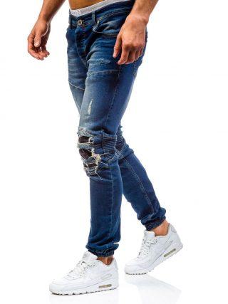 pol_pl_Niebieskie-spodnie-jeansowe-joggery-meskie-Denley-457-48682_2